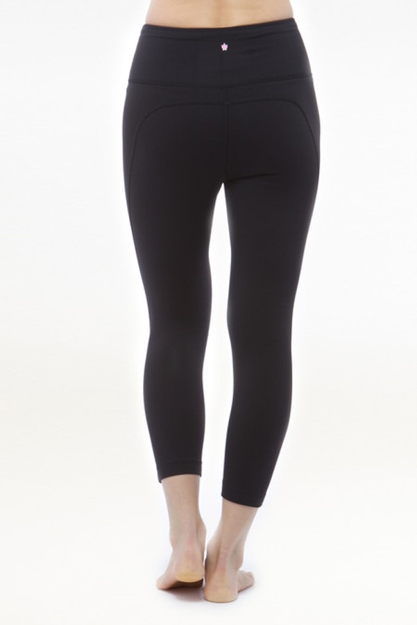 Black High Waist Yoga Capri leggings