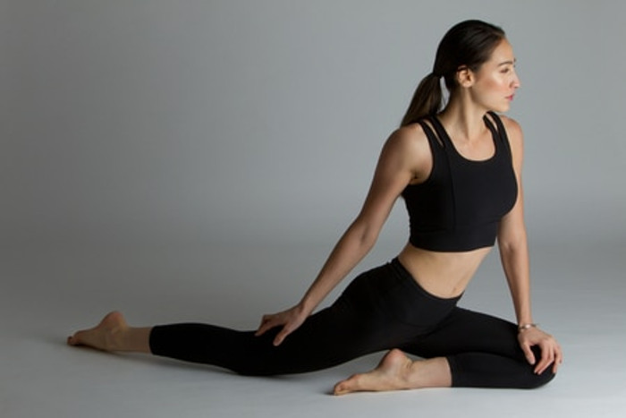 High Waisted Yoga Capri Pant Yoga Pose