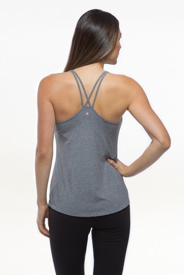 Heather Grey flirt easy racerback yoga tank tops