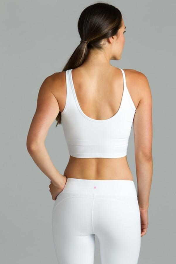 white warrior victoria yoga crop top bra