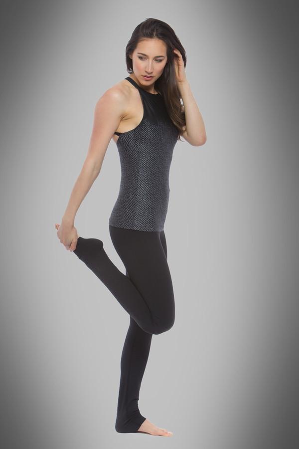 Grace Yoga Halter (Herringbone Print)