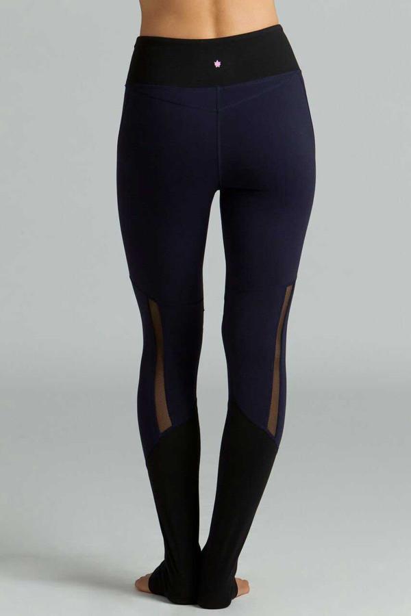 Strut Yoga Legging navy and black mesh back