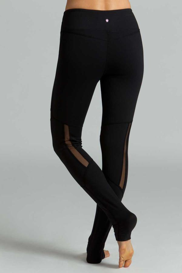Black Strut Yoga Legging Back