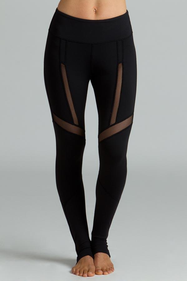 Black Strut Yoga Legging front
