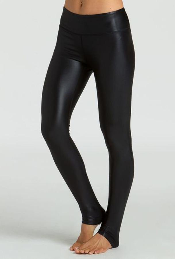 KiraGrace Grace High Waisted Yoga Leggings in Black Lacquer