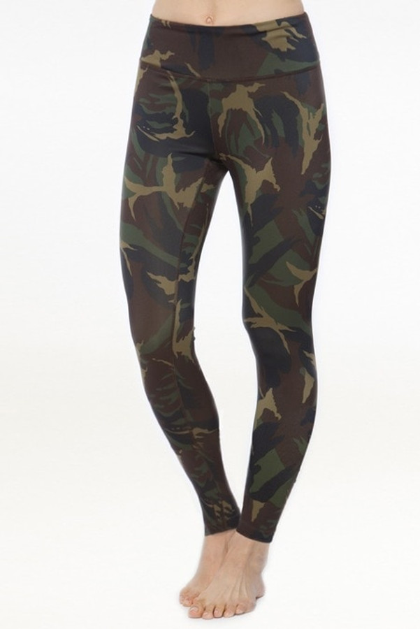 KiraGrace High Waisted Yoga Legging in Camo Print