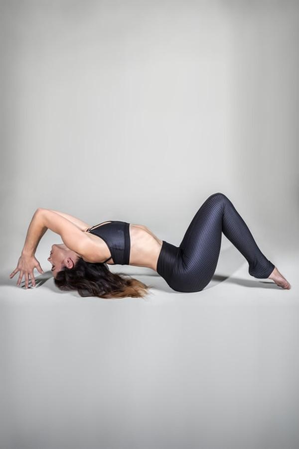 KiraGrace Grace High-Waisted Yoga Legging in Ombré Houndstooth print