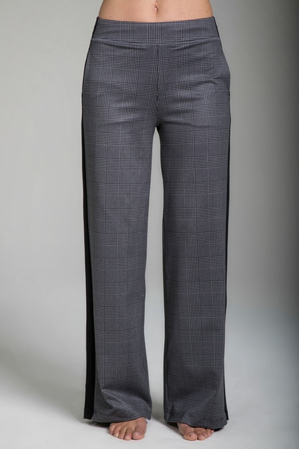 KiraGrace Seva Track Pant in Glen Plaid print