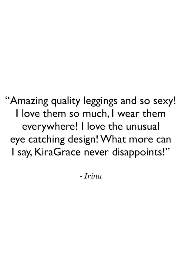 Romance Grommet Yoga Legging in Black Customer Review Quote