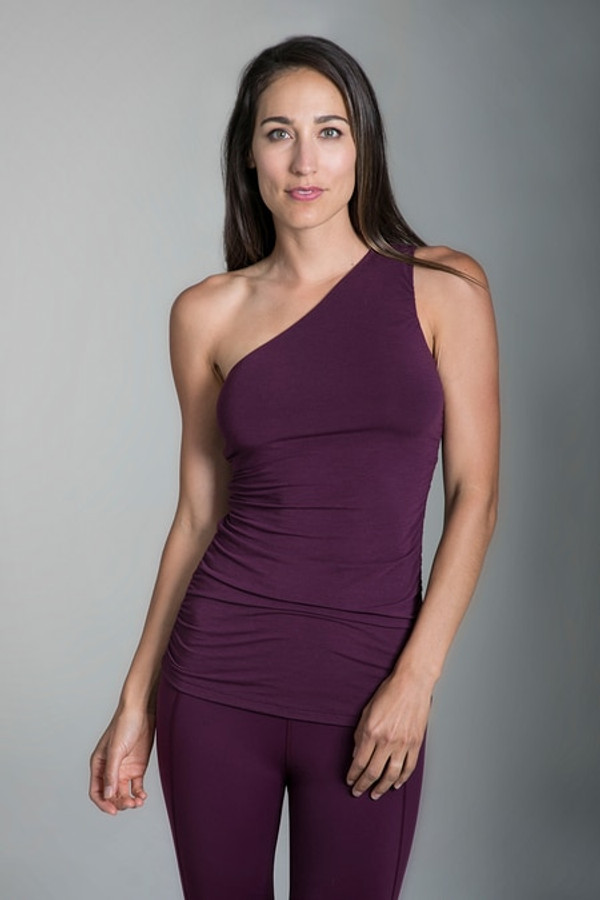 Goddess Luxe One Shoulder in Moulin Rouge
