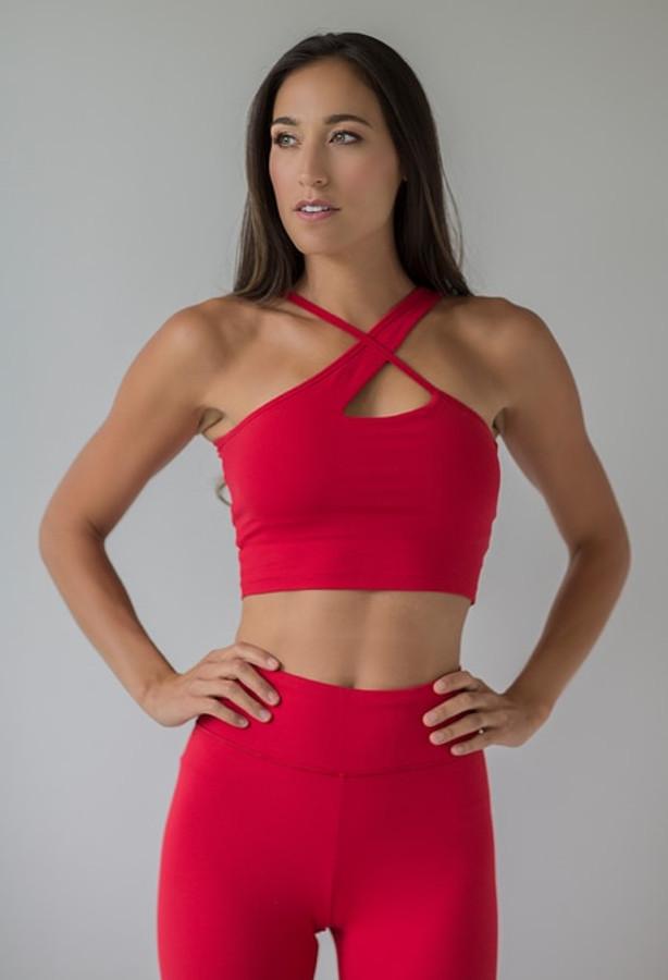 Warrior Victoria Crop Top in Ruby