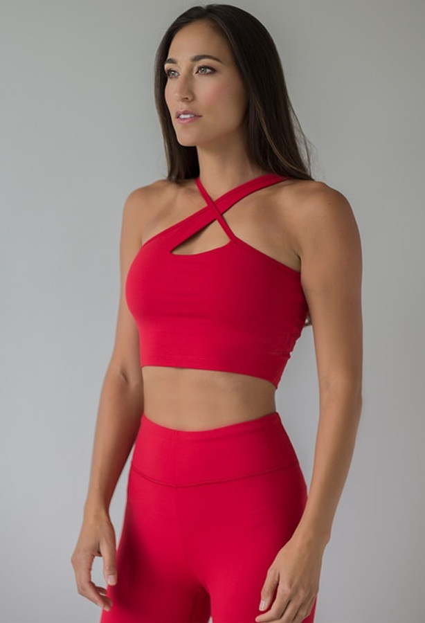 Warrior Victoria Crop Top (Ruby)