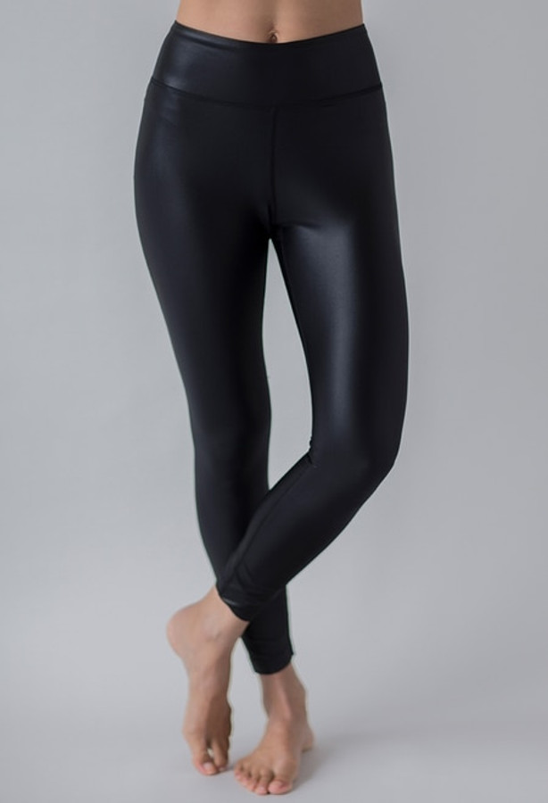 Grace Ultra High Waist 7/8 Yoga Legging (Black Lacquer)