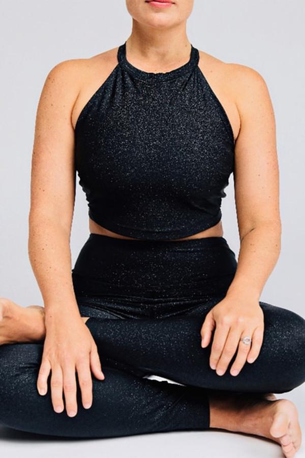 Grace Yoga Halter Crop Top (Stardust)