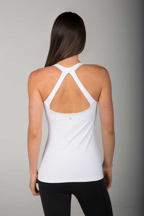 Grace Yoga Tank White