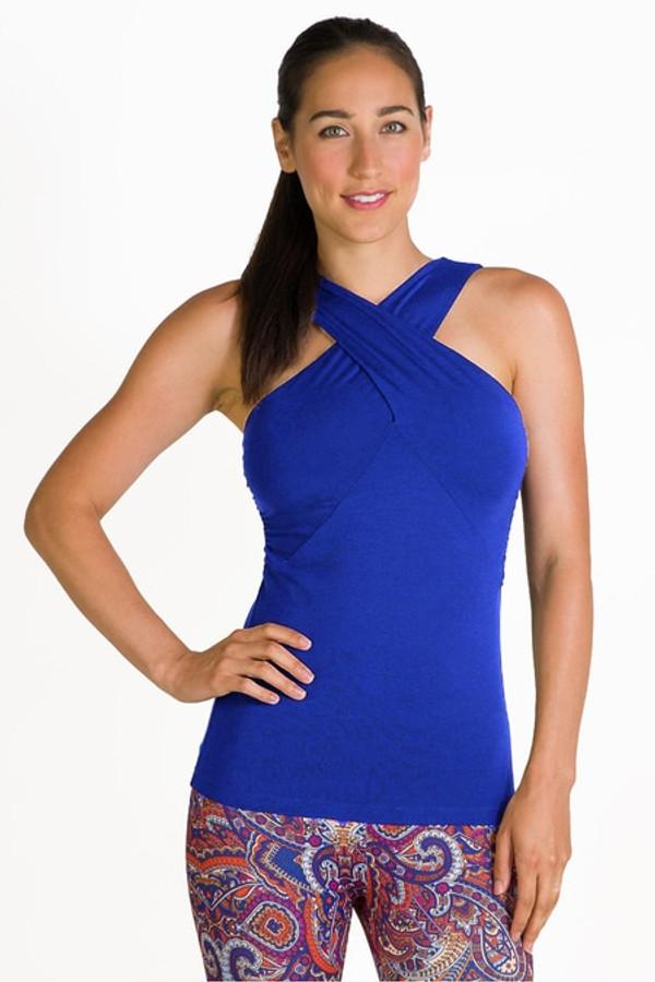 Glamour Goddess Luxe Halter in Paradise Blue