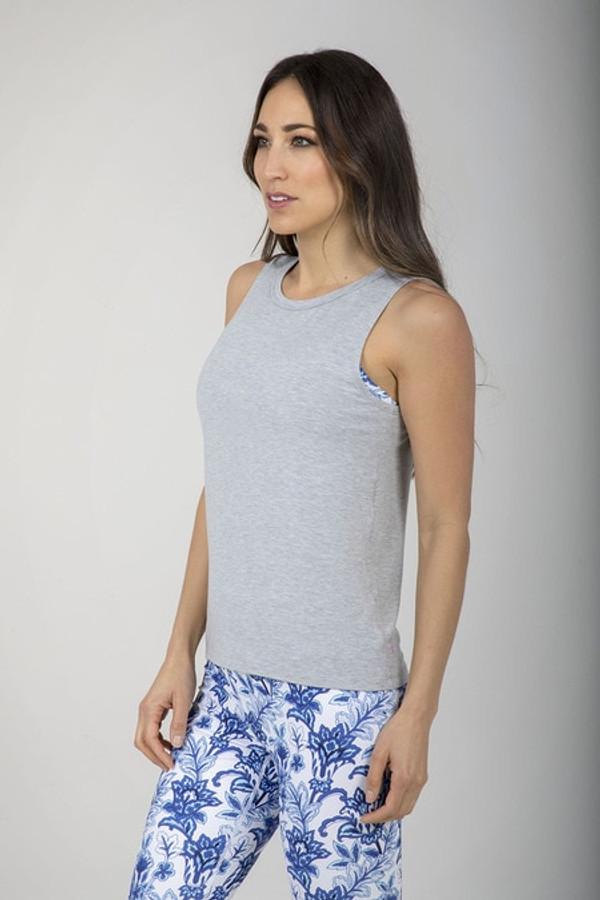 Sevari Yoga Tank (Heather Grey)