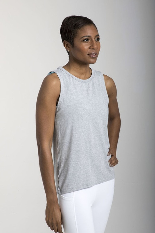 Sevari Yoga Tank (Heather Grey)