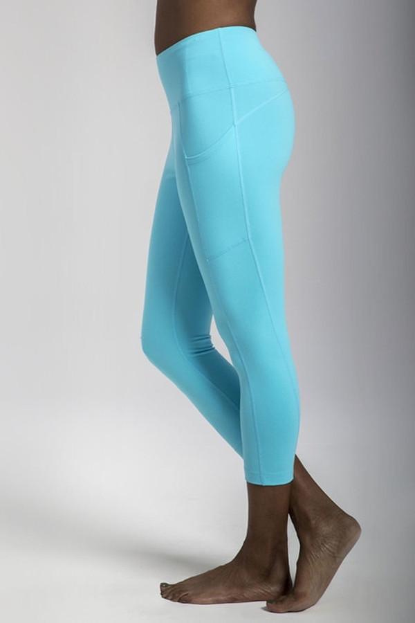Ultra High Waist Pocket Yoga Capri (Calypso)