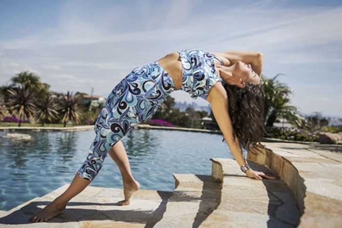 Grace Ultra High Waist Yoga Capri (St. Bart's)