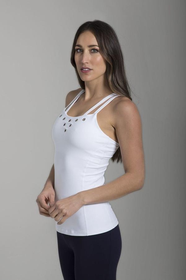 Grommet Yoga Cami (White)