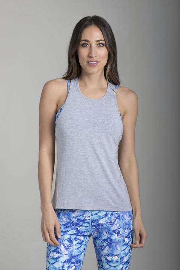 Relaxed Racerback Yoga Tank (Heather Grey)