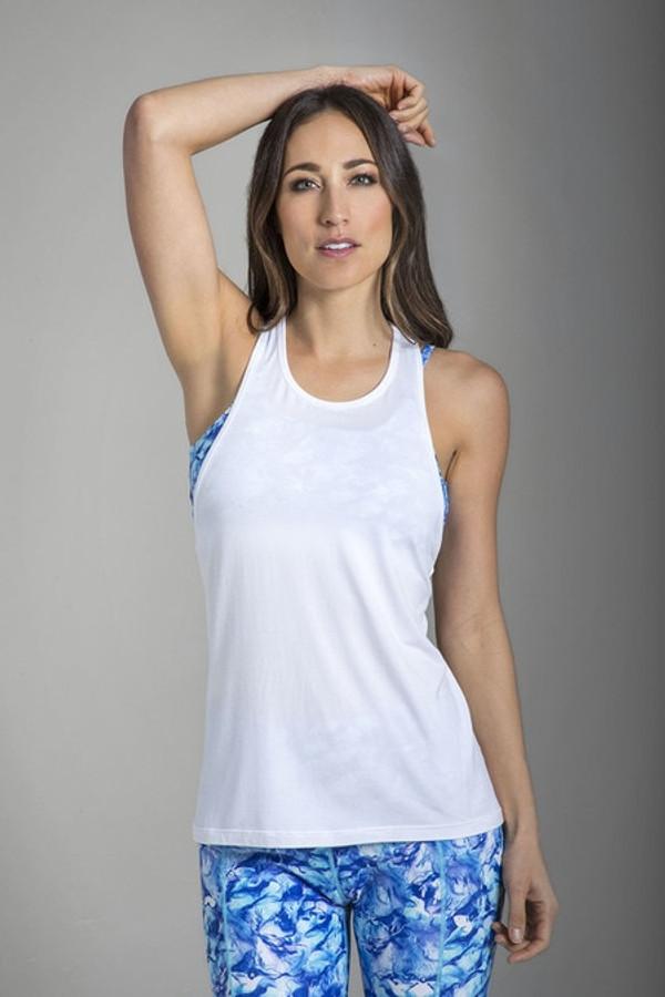 Relaxed Racerback Yoga Tank (White)