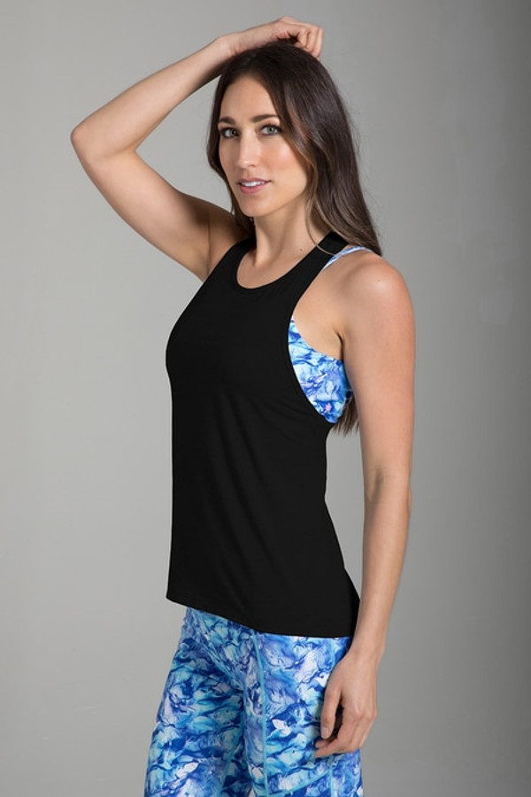 Relaxed Racerback Yoga Tank (Black)