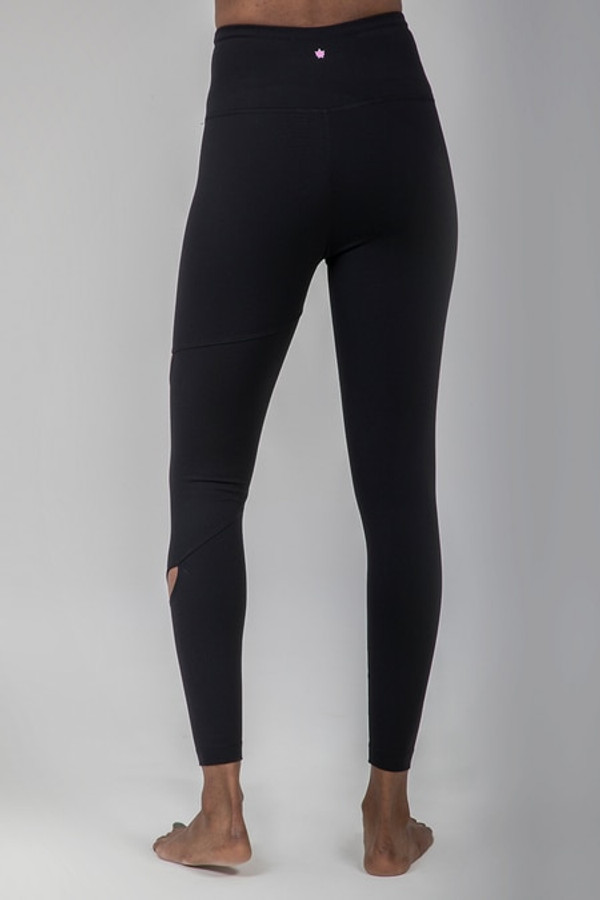 Black Yoga Medicine Seva Yoga Legging back view