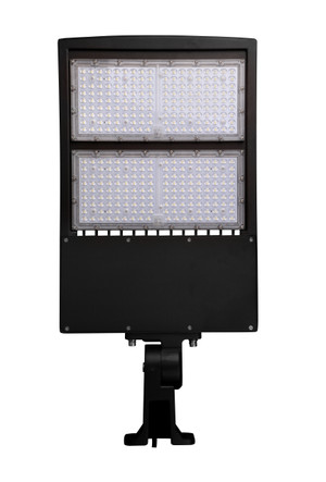 LED Street Light Fixture 300W - Yoke Trunnion - 42000 Lumens - 5 year Warranty - 5700K - UL  DLC - 1000W Equivalent Outdoor Parking Lot Pole Light