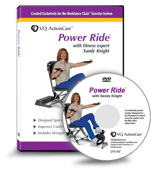 Resistance Chair - Power Ride DVD (Use with Smooth Rider II attachment)