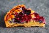 Baked berry tart slice