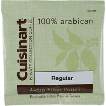 Cuisinart Private Collection Coffee 4-cup Filter Pouch Regular, .85 oz., Case of 100