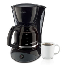 Mr. Coffee DWA13-NP 12 Cup Coffee Maker with 2 Hour Auto Off and Pause N' Serve, Black