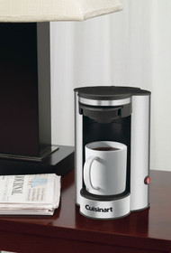 Cuisinart 1‐Cup Coffee Maker ‐ Black with Stainless Steel