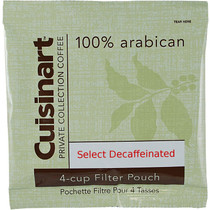 Cuisinart SELECT Private Collection Coffee 4-cup Filter Pouch Decaf, .45 oz, Case of 100