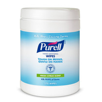 Purell Sanitizing Wipes, 270 Count Canister, Case of 6