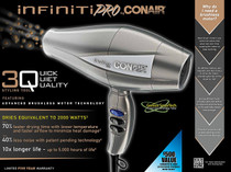 Conair 3QHW Infiniti Pro 1875 Watt Ionic Hair Dryer with Brushless Motor