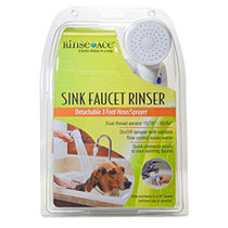 Rinse Ace Sink Faucet Rinser, 3' Hose Sprayer With Variable Flow
