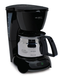 Mr. Coffee TF5-080 Commercial 4 Cup Coffee Maker, Stainless Steel Carafe  with Auto-Off, Black