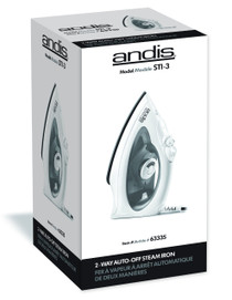 Andis 63335 STI-3 2-Way Auto Off Steam Iron - White
