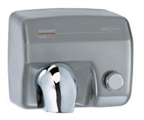Saniflow E88CS Push Button Hand Dryer - Satin Chrome