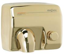 Saniflow E88O-UL Push Button Hand Dryer - Golden Finish