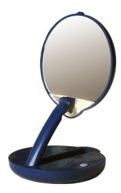 Floxite FL-15ACP Lighted Folding 15X Compact Travel Mirror, Blue