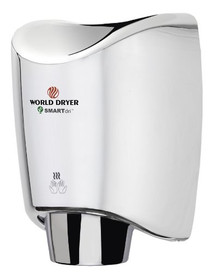 World Dryer K-970 SMARTdri Automatic High Speed Hand Dryer, Aluminum, Polished Chrome, K-970P2 SMARTdri Plus