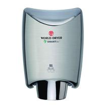 World Dryer K-973 SMARTdri Automatic High Speed Hand Dryer, Brushed Stainless Steel, K-973A2 SMARTdri Plus