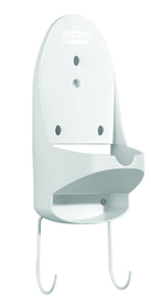 Sunbeam 3963 Wall Mount Iron Organizer with Ironing Board Hook, White