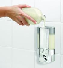 Better Living 76140 AVIVA I Shower Soap Dispenser, Translucent Bottle, Chrome