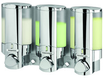 Better Living 76345 AVIVA III Shower Dispenser, Translucent Bottles, Chrome