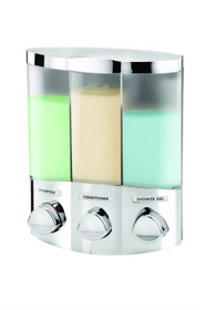 Better Living 76344-1 Euro TRIO Dispenser, Translucent Container, Chrome